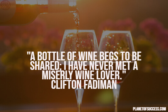 A bottle of wine quote
