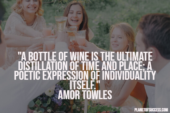 Quote about a bottle of wine