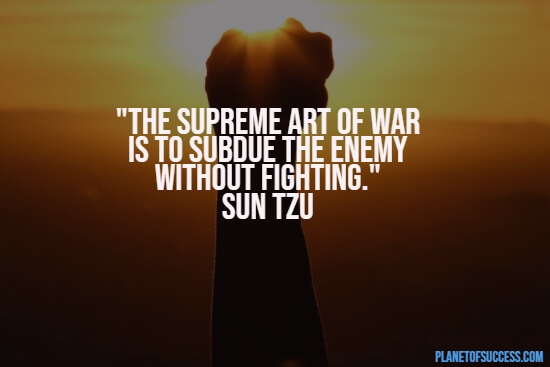 Quote about the art of war