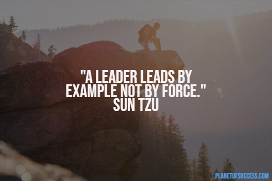 Leading by example quote