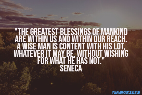 The greatest blessing quote
