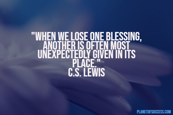 Losing one's blessing quote