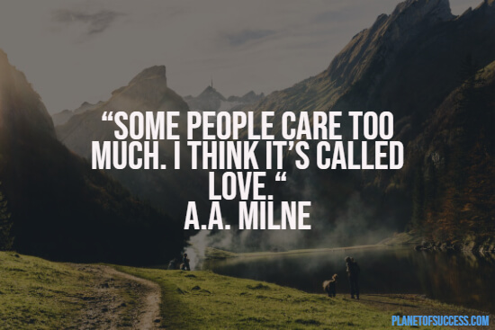 Quote about caring too much