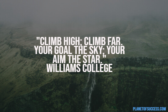 Climbing high quote