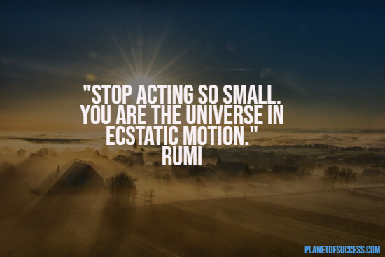 Acting so small quote