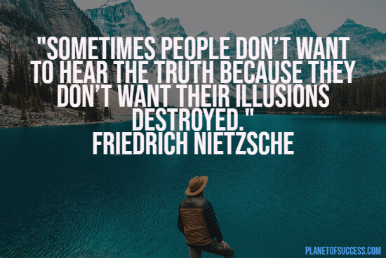 Nietzsche quote about illusions