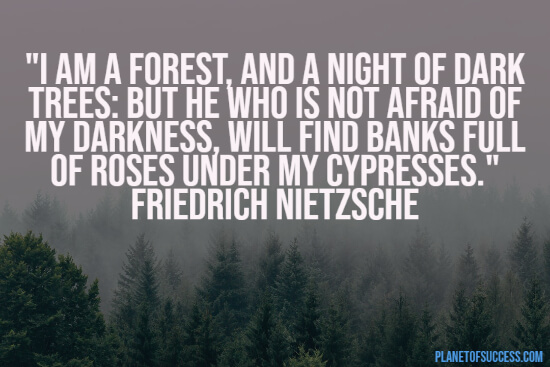 Nietzsche quote about forests