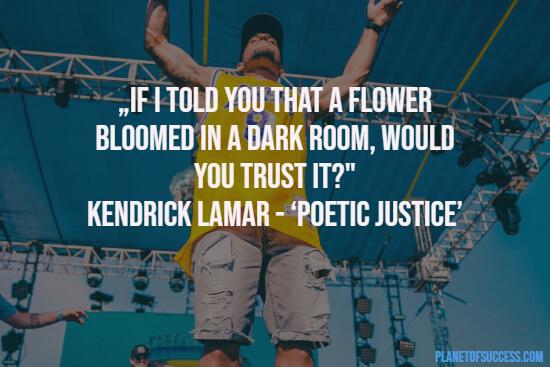 Poetic rap lyrics
