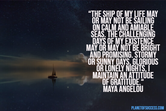 Sailing the seas quote by Maya Angelou