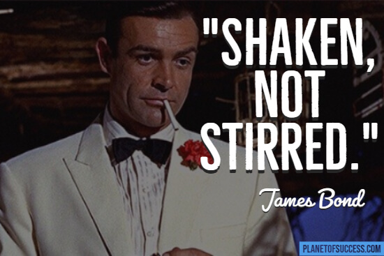 James Bond movie quote