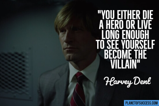 Movie quote from The Dark Knight