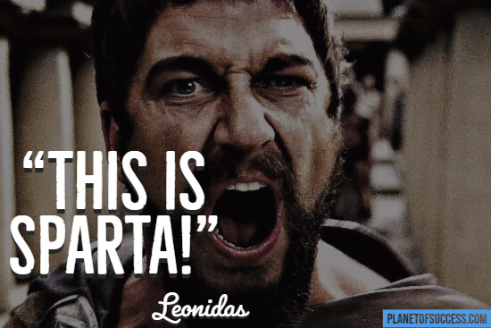 300 this is Sparta quote