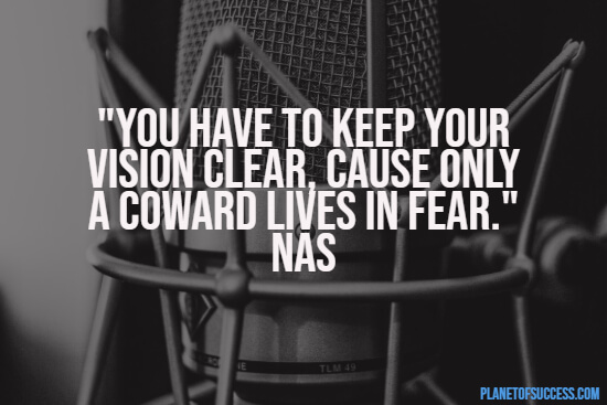 Rap quote about having a vision