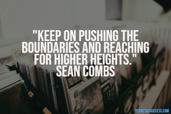 Pushing the boundaries rap quote