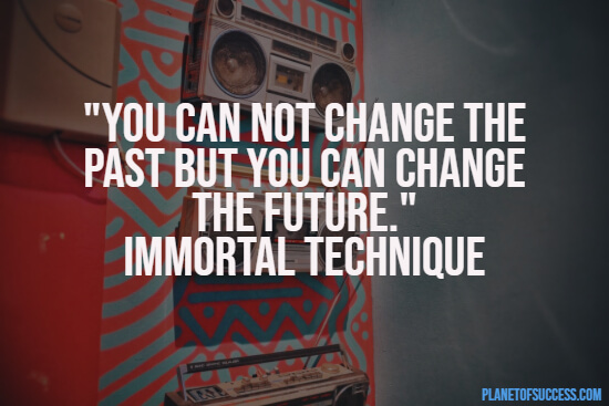 Rap quote about changing the past