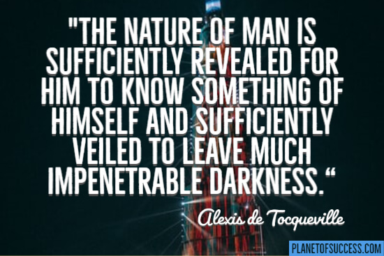 The nature of man quote