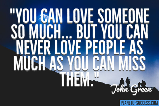 You can love someone quote