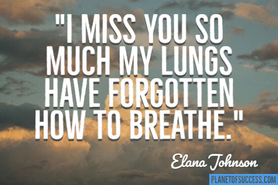 Forgotten how to breathe quote