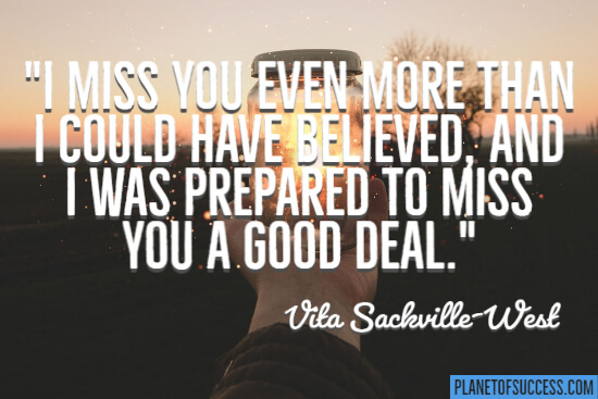 I miss you even more quote