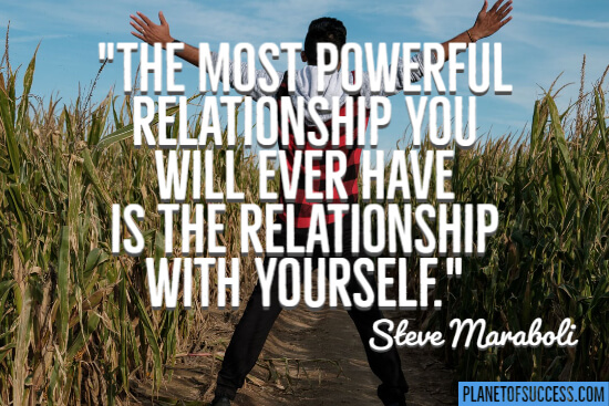 The relationship with yourself quote