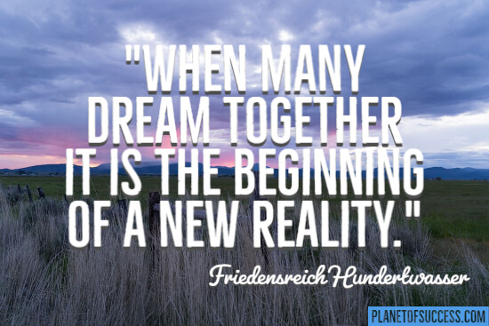 Many dream together