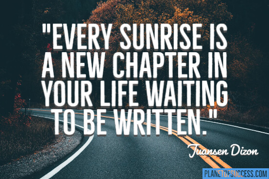 A new chapter in your life