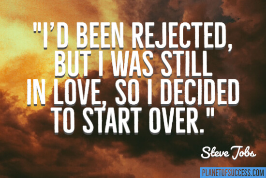 I decided to start over