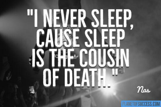 我从来没睡过