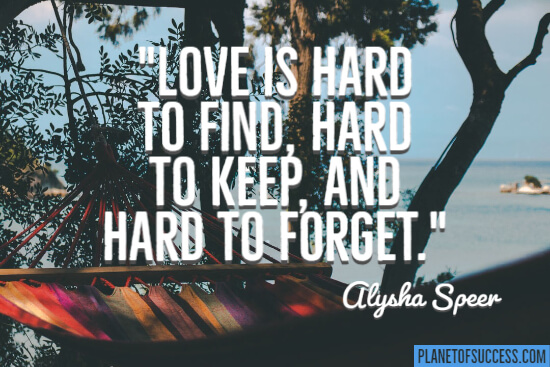 Love is hard to find