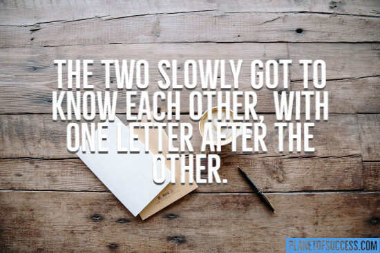 Go to know each other with each letter