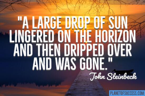 A large drop of sun