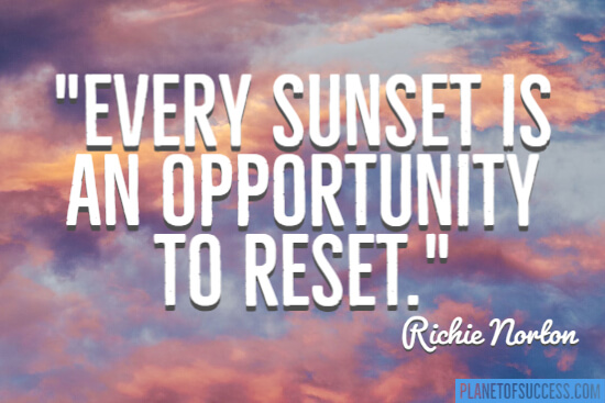 Opportunity to reset