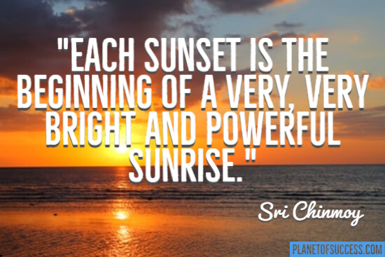 Sunsets quote