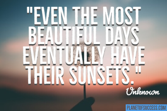 The most beautiful days