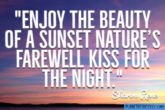 Nature's farewell kiss