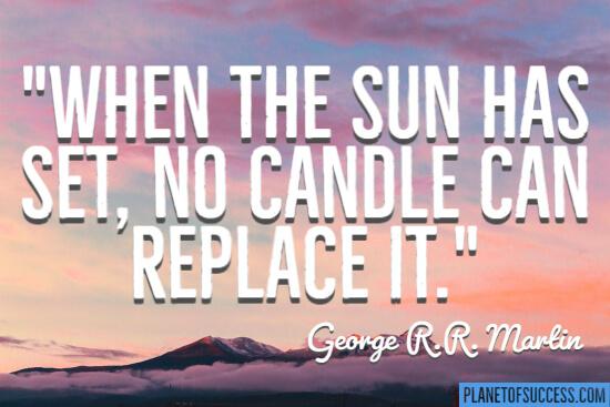 When the sun has set