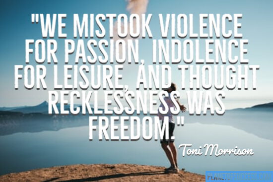 We mistook violence for passion